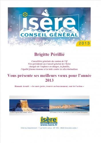 VIF, Conseil général Isère, Brigitte Périllié